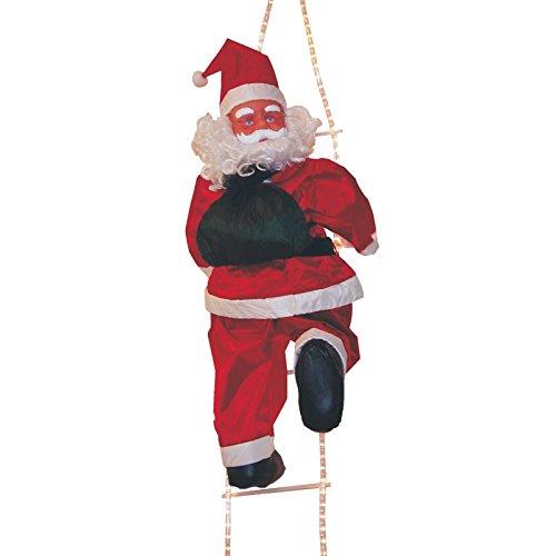 Babbo Natale in scala illuminato con tubo luminoso 115cm per esterni Ref. 200–647
