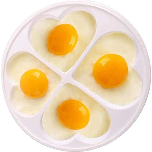 Mikrowellen Einfache Eier, Eier Omelett für Mikrowelle, Eierkocher Spiegelei Pochierte, Kunststoff-Ei-Kocher Mikrowelle, Mikrowelle Eierkocher, für Mikrowelle, Weiß, in Eierform, für bis 4 Eier