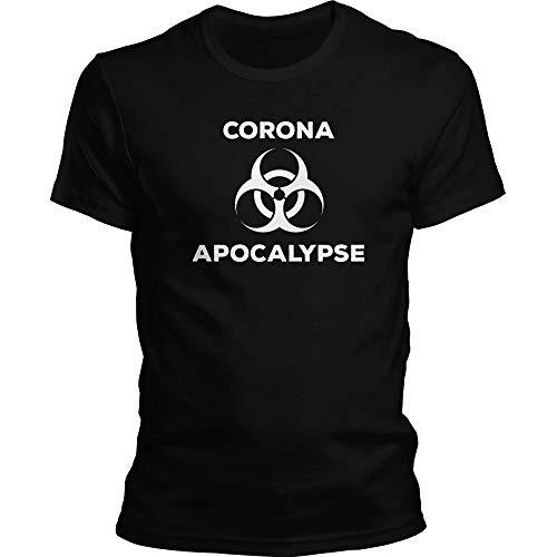 DragonHive Corona Apocalypse #StayHome Corona-Virus 2020 COVID-19 Corona-Virus 2020 COVID-19 - Camiseta para hombre Negro XXXXL