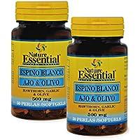 Espino blanco + ajo + olivo 500 mg. 50 perlas (Pack 2 unid.)