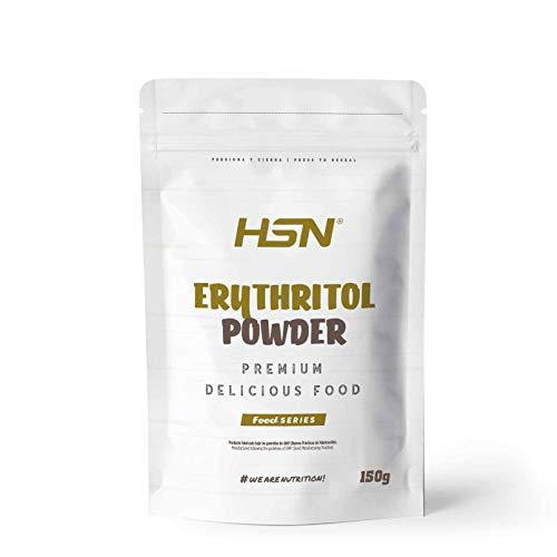 Eritritol de HSN | ¡La Mejor Alternativa al Azúcar! | Edulcorante Natural Bajo en Calorías | Endulzante para Recetas Fitness | Vegano, Sin Gluten, Sin Lactosa, En Polvo, 150 gr