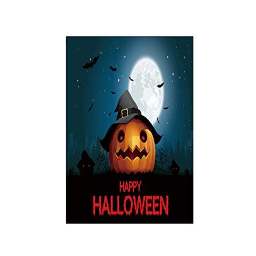 Heetey Halloween Dekoration Halloween Fledermaus Kürbis Hexe Garten Banner Dekoration Banner Party-Horror Spuk Spukhaus Hängen Garland Anhänger Banner Partei DIY Dekorationen 30x45cm