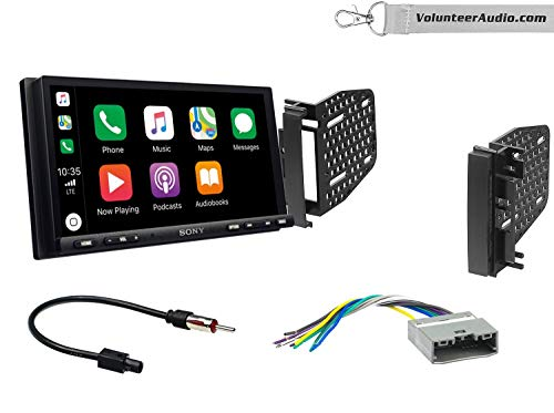 Sony XAV-AX7000 Double Din Radio Install Kit With Apple Carplay, Android Auto, SiriusXM Fits 2009-2010 Ram 2011-2014 Chrysler 200 (REF, REC, and RAK Factory Radios)