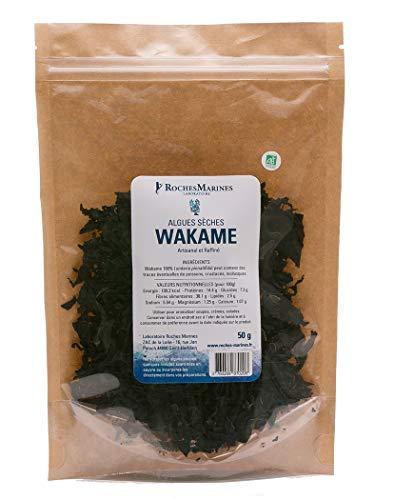 Wakamé Bio Glitter Wakame-Alge 50 g Made in Frankreich für Salate und Fische