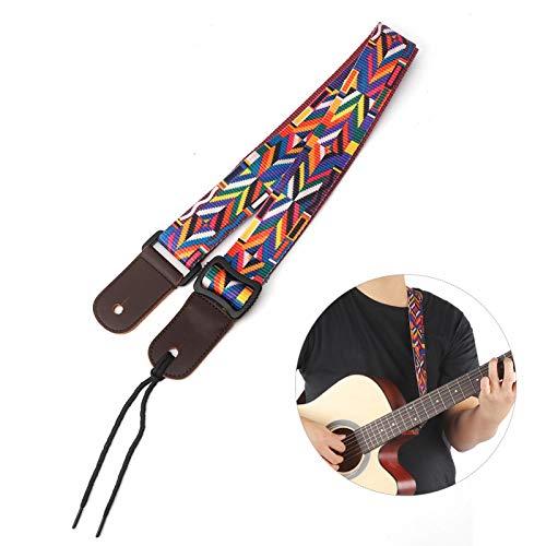 Con fuertes características chinas cinturón de guitarra ajustable para bajo de ukelele