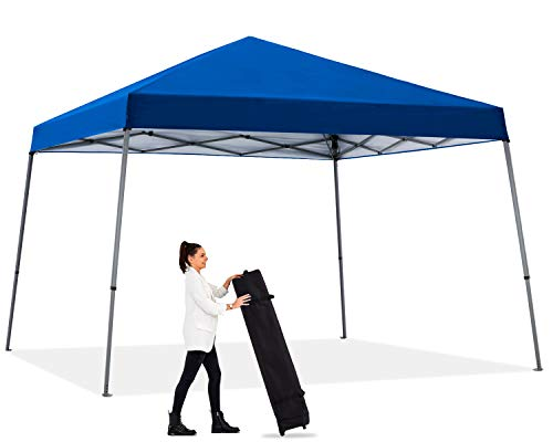 ABCCANOPY Canopy Tent Pop-up Canopy Easy Up Beach Canopy Outdoor Shade Bonus Wheeled Bag, Weiget Bags, Stake and Ropes,Royal Blue