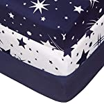 TILLYOU Silky Soft Microfiber Crib Sheet, Breathable Cozy Baby Sheets for Boys and Girls, 28 x 52in Fits Standard Crib & Toddler Mattress, White