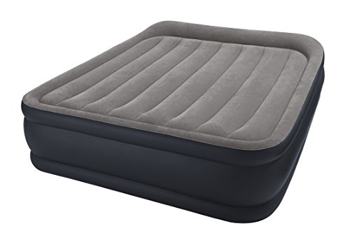 Intex Deluxe Pillow Rest Raised Luftbett - Queen - 152 x 203 x 42 cm - Mit eingebaute elektrische Pumpe