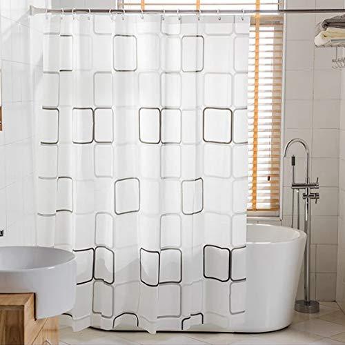 WEIXINHAI Bathroom Shower Curtain Liner 180 x 180 cm -...