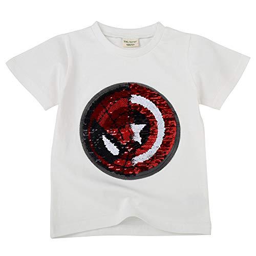 Niño niña Camiseta con Lentejuelas Camiseta mágica de Len
