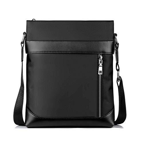 Impermeables Messenger Bag Bolsos a Hombro de Mensajero de Lona Mini Bolsa Bandolera Hombre PequeñoViaje Bolso Mensajero Vertical Grande Bolsa de Negocios para iPad Mini Escolares Sport Casual (Negro