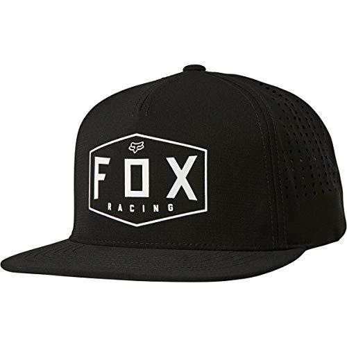 Fox Racing Sombrero del Snapback de la Cresta del Sombrero del Snapback de los Hombres, Hombre, 26036, Negro, Talla única
