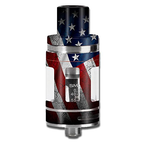 Skin Decal Vinyl Wrap for Smok Micro TFV8 Baby Beast Tank Vape Mod stickers skins cover/ American Flag distressed