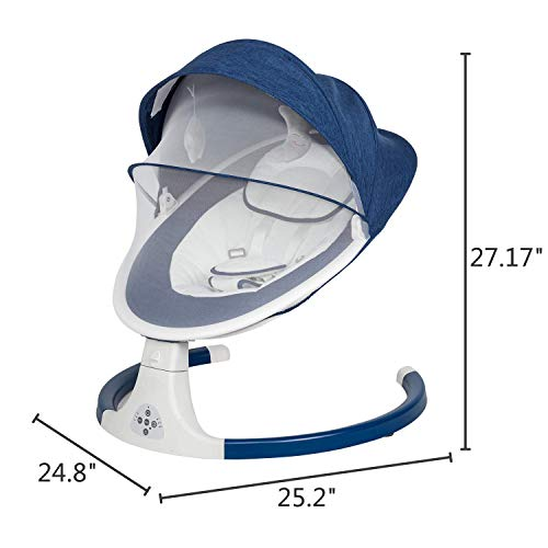 41NAIabwuwL The Best Battery Operated Baby Swings in 2021 Reviews