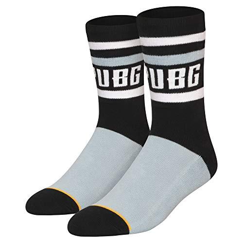 JINX PUBG Logo Crew Embroidered Athletic Crew Socks, 1 Pair