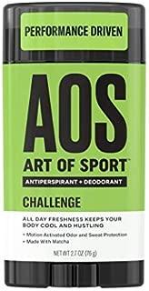 Art of Sport Men's Antiperspirant Deodorant Stick, Challenge Scent, Athlete-Ready Formula with Matcha, 2.7 oz