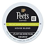 Peet's Coffee & Tea Decaf House Blend K-Cup Portion Pack for Keurig K-Cup Brewers, 22 Count