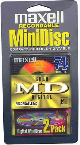 MAXELL GMD-74/2 Gold Recordable Mini Discs (Discontinued by Manufacturer)
