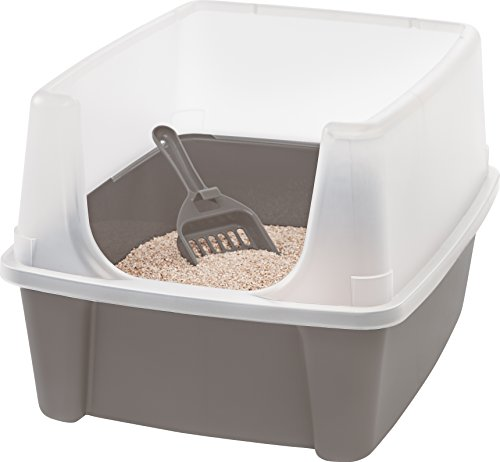Iris Katzentoilette mit Rand und Schaufel \'Cat Litter Box\', Plastik, 48,5 x 38 x 30,5 cm