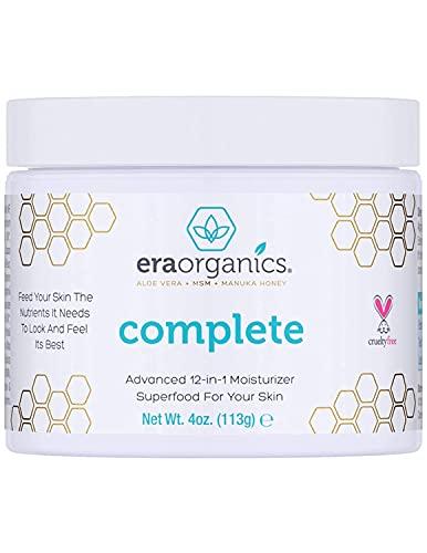 Era Organics Face Moisturizer Cream - Advanced Moisturizing 12-In-1 Dry Skin Cream With Superfood...