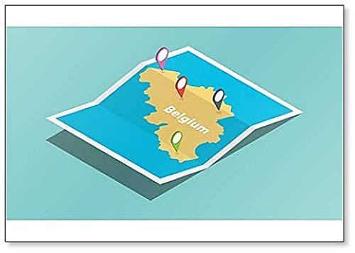 België Explore Map - Koelkast Magneet