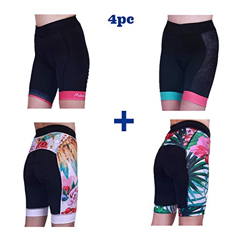 LIKEJJ Cycling Tights ,Outdoor Mountain Road Bike Women's Cycling Shorts Non-Slip Silicone Pants pad-A+B+C+D_XXL