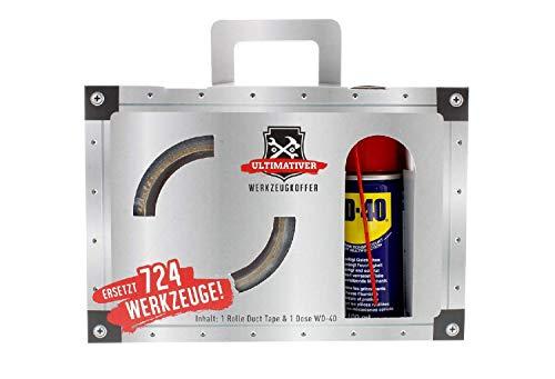 Scherzartikel lustiges Geschenk für Heimwerker Ultimativer Werkzeugkoffer Männergeschenk Set mit WD-40 und Duct Tape