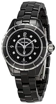 Chanel Women s H2569 J12 Black Ceramic Bracelet Watch