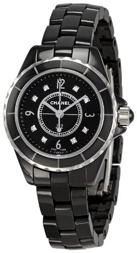 Chanel Women's H2569 J12 Black Ceramic Bracelet Watch