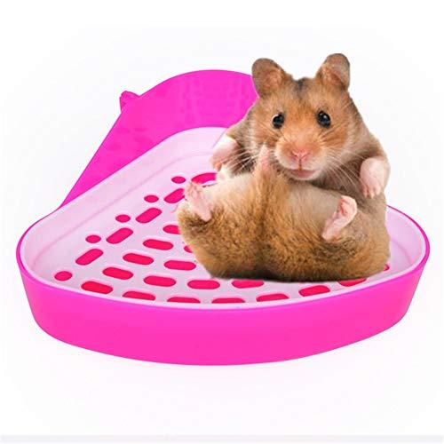 KunLS Inodoro para Mascotas Inodoro De HáMster Bandeja De Arena para Esquina Orinal De Entrenamiento para HáMster De Animales PequeñOs Pink