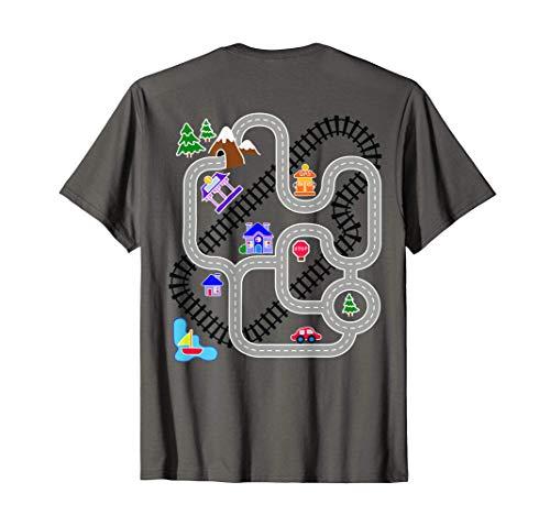 Hombre Padres Día Regalos Coche Y Tren Playmat Alfombra Camiseta