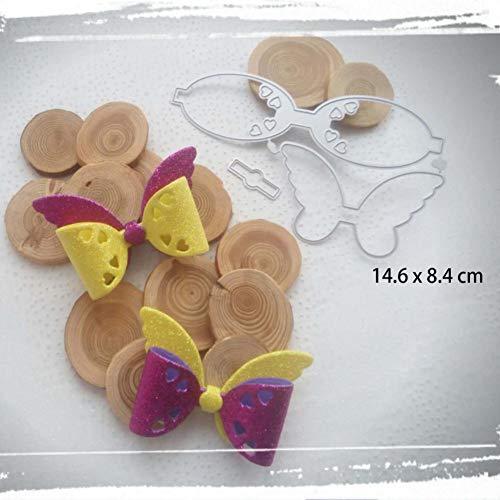 Doe-het-zelf stansvorm bowknot set stansvormen scrapbooking papier handgemaakte kaart punch art messen snijden voor geschenk maken