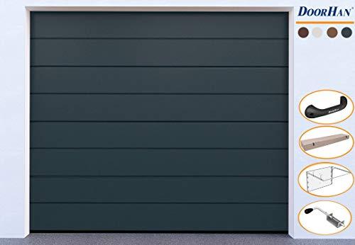 DoorHan Sektional Garagentor | zu Selbstmontage | Größen wählbar | 5 Farben (2375 x 2030, RAL 7016 (Anthrazitgrau))
