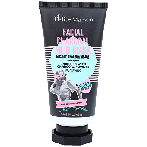 Mud Mask for Face with Activated Charcoal - Petite Maison Facial Charcoal Mud Mask - Pore Minimizer & Acne Pore Reducer Face Mask for Pores - Facial Cleanser Skin Care Masks for Oily Skin (2.70 Fl Oz)
