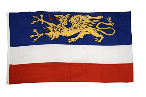 Fahne / Flagge Deutschland Stadt Rostock + gratis Sticker, Flaggenfritze®