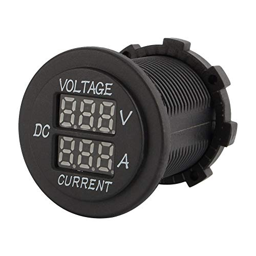 Digital Voltmeter Amperemeter-Auto Motorrad DC 12-24 V Dual LED-Anzeige Rot Digital Voltmeter + Amperemeter Amp Volt Meter Anzeige (Klemmen mit Kabel enthalten)
