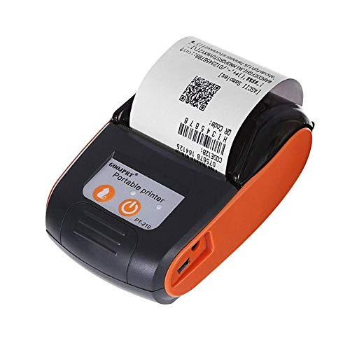 True-Ying Mini impresora térmica inalámbrica, EARME 58 mm portátil USB de recibo de billetes TPV compatible con impresoras térmicas iOS, Android y Windows