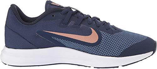 Nike Unisex-Kinder Downshifter 9 Leichtathletikschuhe, Mehrfarbig (Midnight Navy/MTLC Red Bronze 403), 32 EU