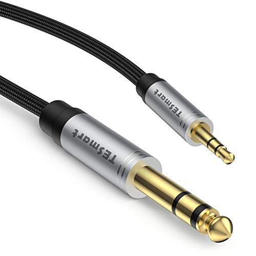 TESmart Audiokabel, 6,35 mm auf 3,5 mm Audio-Kabel, 6,35 mm TRS auf 3,5 mm TRS...