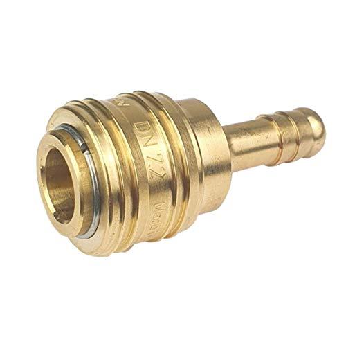 Druckluftkupplung Kupplungsdose Druckluft Kupplungsstecker mit Schlauchtülle Messing NW 7,2 10mm