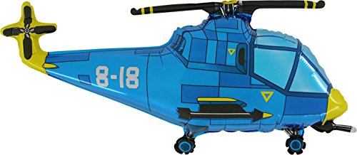 37' Blue Helicopter Foil Balloon - As Seen In The 50 Shades Of Grey Movie
