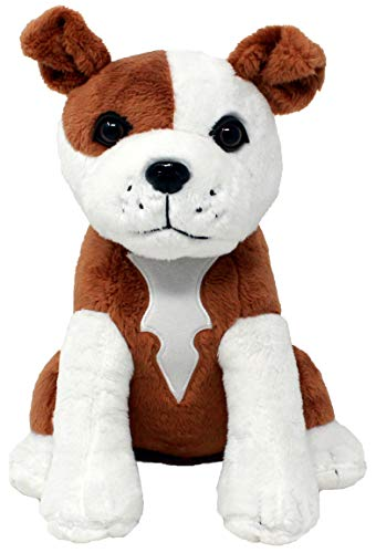 Shelter Pets Stuffed Animals: Tillman - 10' Brown and White Pitbull Plush Dog - Based on Real-Life Adopted Pets - American Staffordshire Terrier - Benefiting the Animal Shelters They Were Adopted From