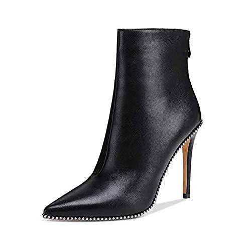 Dames hoge hak laarzen, puntige Stiletto enkellaarzen Comfortabele dames 8cm hak, om te winkelen, foto's te maken en cadeau te geven 43
