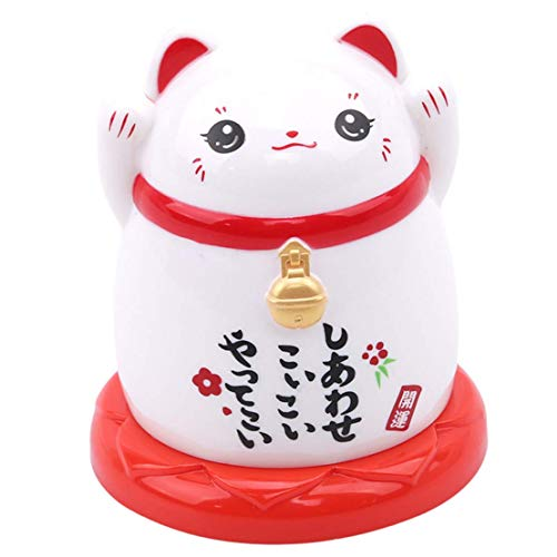 Palillero Automatico Palilleros Divertidos Lucky Cat Toothpick Jar Caja De PláStico A Prueba De Polvo para Palillos De Dientes por Sala De Estar Mesa De Centro Mesa De Comedor