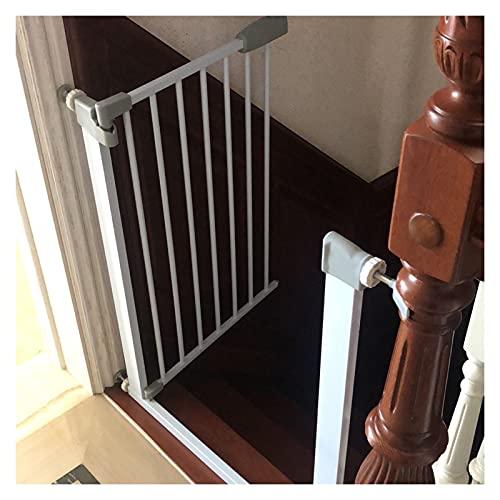 Puerta De Seguridad, Barrera Segura Valla para Mascotas Barrera De Seguridad por Escalera Y Pasillo, Funciones De Cierre Automático/Retención De Apertura (Color : White, Size : 174cm-181cm)