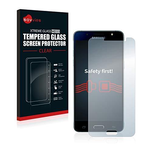 savvies Protector Cristal Templado Compatible con Samsung Galaxy J5 2016 Protector Pantalla Vidrio, Protección 9H, Pelicula Anti-Huellas