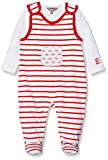 Kanz Unisex Baby Strampler + T-Shirt 1/1 Arm Bekleidungsset, Rot (Flame Scarlet|Red 2550), 68
