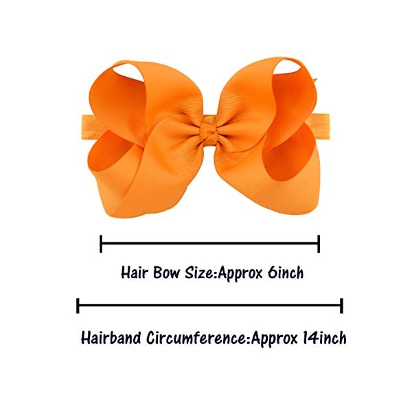 20 Pcs 6″ Hair Bow Baby Girls Toddlers Headbands Head Wear Hair Band Accessory