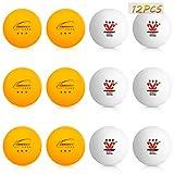 Achort Pelota de Ping Pong Pelotas Tenis Mesa 3 Estrellas Blanco/Naranja 40 mm, 12 Tenis de Mesa para Entrenamiento Profesional y Bolas de Competición para Juegos avanzados
