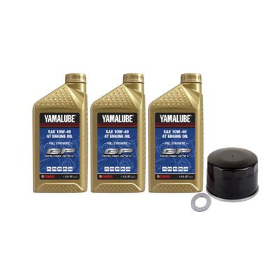 Oil Change Kit Yamalube Hi-Perf. Full-Synthetic 10W-40 for Yamaha GRIZZLY 700 4x4 2016-2017